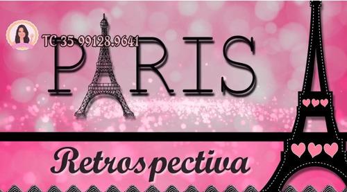 Projeto  Proshow Paris Rosa 100 Fotos