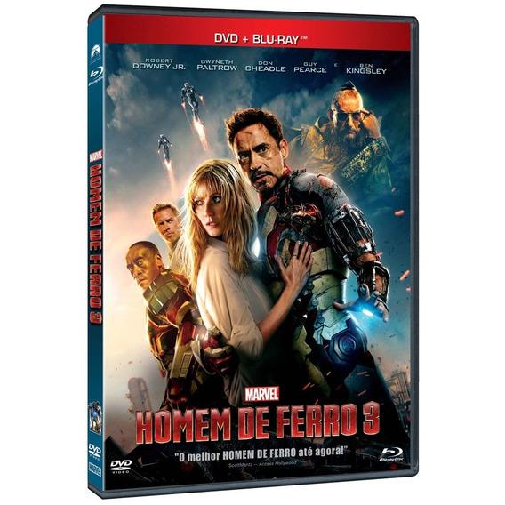 Dvd + Blu Ray - O Homem De Ferro 3