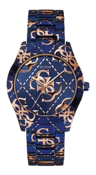 Relógio Feminino Guess 92547lpgsea1 Analógico Azul Rose
