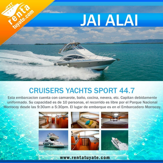Alquiler Lanchas Y Yates Cruisers Yatchs Sport Sedan
