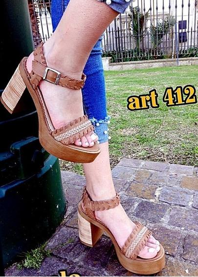Sandalias Mujer Zapatos Dama Plataforma Liviana Moda Verano