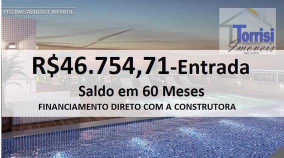Apartamento Em Praia Grande Vista Mar , 01 Dormitório , Guilhermina, Ap2415 - Ap2415