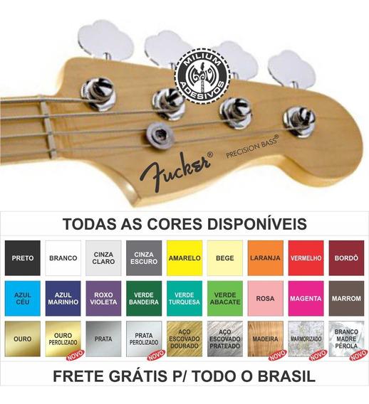1 Adesivo Headstock Fender Gibson Ibanez Restauro Fretgrátis