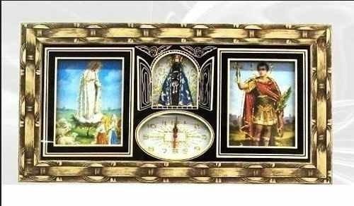 Quadro Relógio Nossa Senhora E Santo Expedito