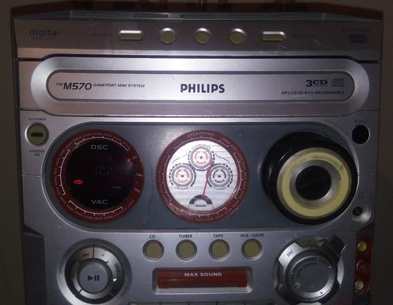 Micro System Philips Fw-m570 Radio Am Fm Entrada Auxiliar