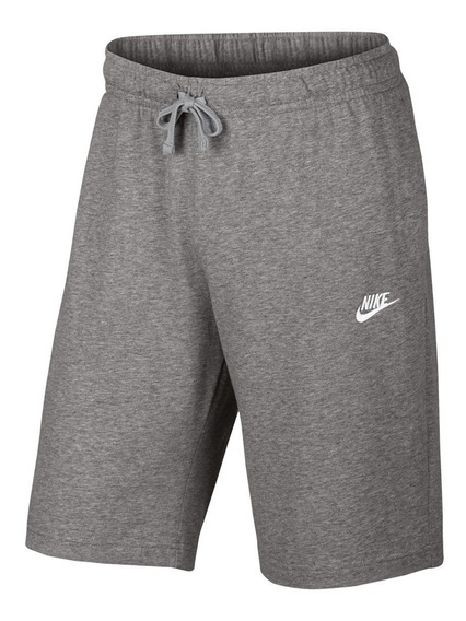 Bermuda Moletom Nike Jersey Club Reta Masculina Original