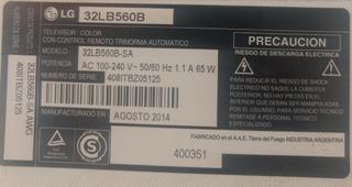 LG 32lb560b Repuestos
