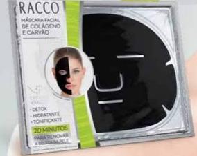 Máscara Facial De Colágeno E Carvão Ativado 0.6g Racco