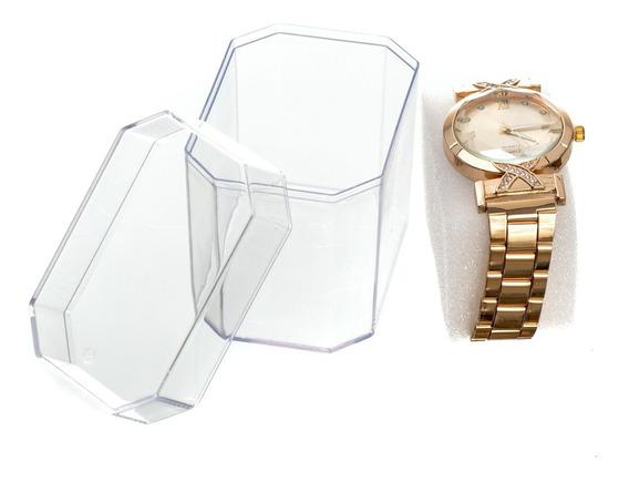 Kit 16 Relógio Feminino + Caixa De Acrílico Para Revenda !!