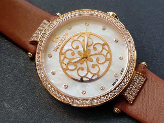Relógio Feminino Seculus 1708lbrrstd Swiss Made