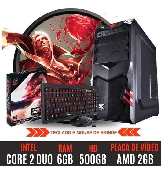 Pc Gamer Core 2 Duo Hd500 6gb Amd Radeon 2gb Muito Barato