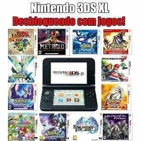 Nintendo 3ds Xl Desbloqueado + Jogos A Sua Escolha