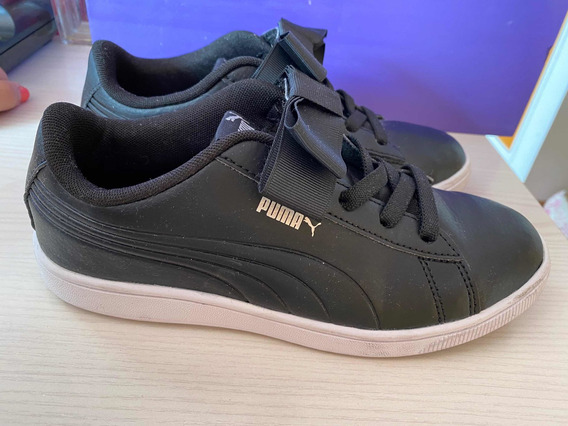Zapatillas Puma Negras Con Moño