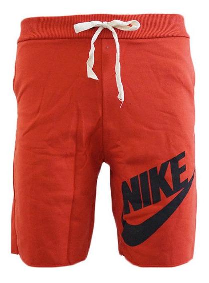 Bermuda Nike Moletom Vermelha Original Promoção