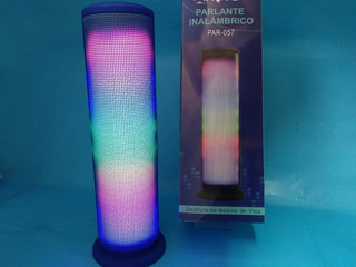 Parlante Portátil Bluetooth Radio Fm Sd Mp3 Usb Y Luces Led