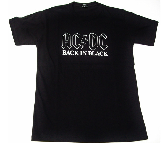 Remera Ac/dc Black Talle X S - Extra Small (40 Cm X 60 Cm )