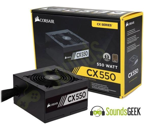 Fonte Corsair Gamer Cx550 550w Real 80plus Bronze Nova
