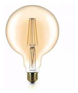 Lampara Led Globo Filamento Vintage 7w Dimm Golden Philips