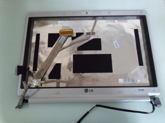 Carcaça Da Tela Notebook Lg R410 C/ Moldura Dobradiças