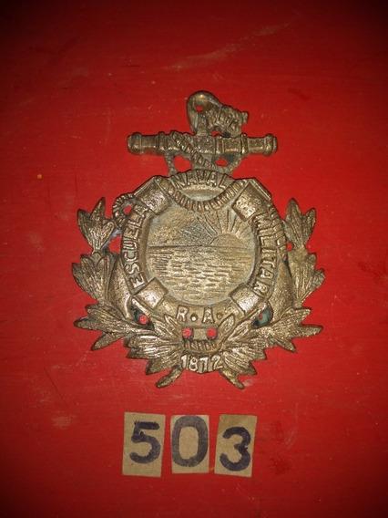 Placa De Bronce Escuela Naval R.a. Año 1872