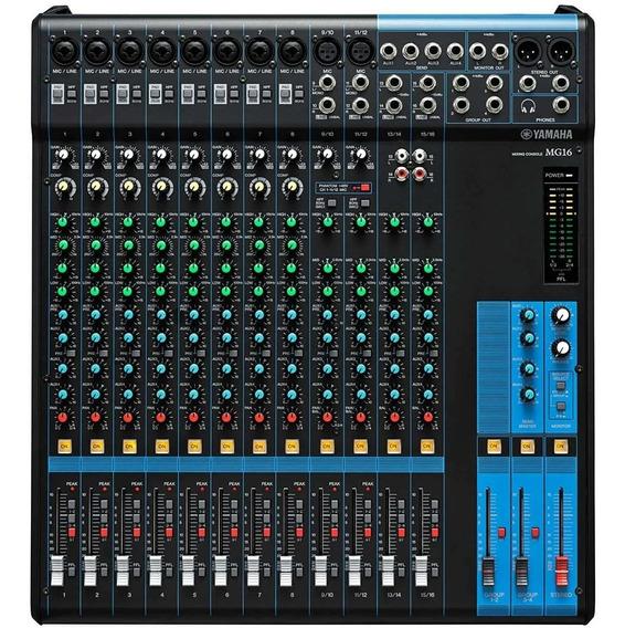 Mesa De Som / Mixer 16 Canais Mg 16 - Yamaha Imperdível