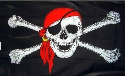 Bandera Pirata 150por90cm Coleccion Fiestas Eventos D-178