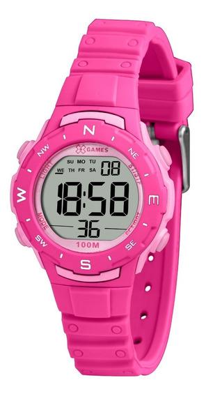 Relógio X-games Feminino Digital Xfppd093 Bxrx Pink Rosa