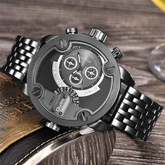 Relógio Masculino Militar Oulm Original - Caixa Grande