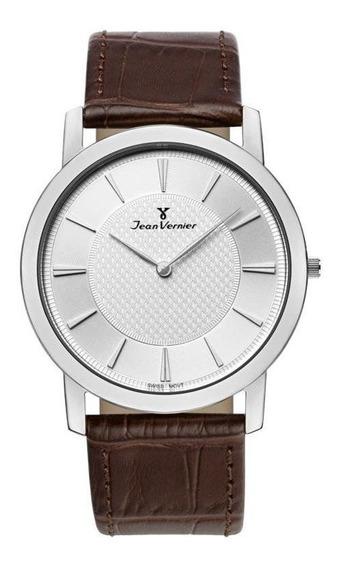 Relógio Jean Vernier Masculino Jv333m Social Slim Prateado