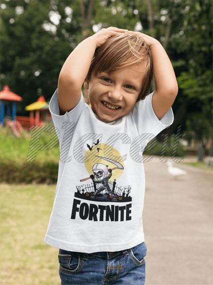 Remera Skull Trooper Fortnite Niños Y Adultos