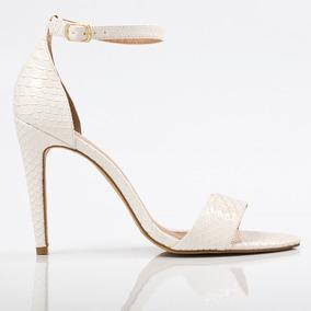 Sandália Alta Excalibur Branco - Numeração Especial 41 E 42