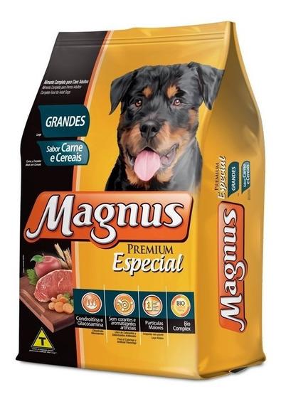 Ração Magnus Premium Cães Adultos Raças Grandes Carne 15 Kg