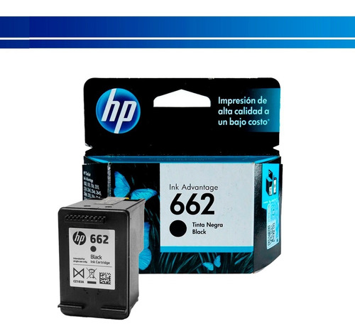Cartucho Hp 662 Tinta Original Negra