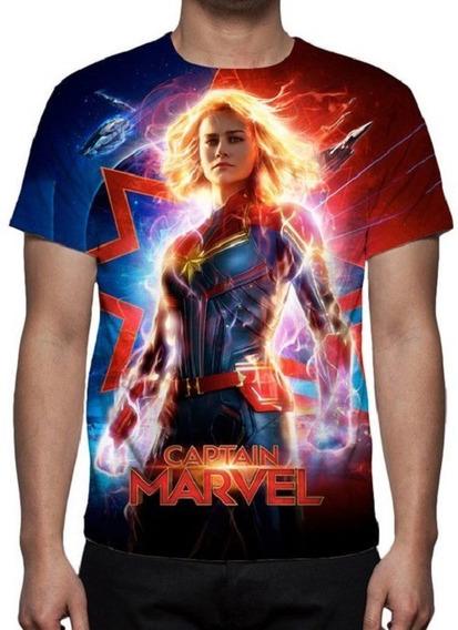 Camisa Camiseta Capitã Marvel Mod 03 - Estampa Total - Prom