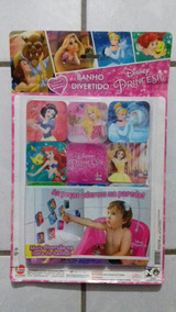 Banho Divertido Princesas Brinquedo 24 Peças Eva Lider