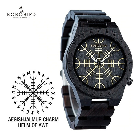 Reloj De Madera Bobo Bird Original Nuevo Wt16 Runas Nordicas