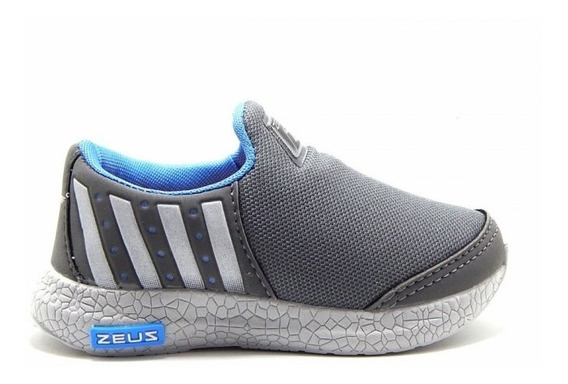 Tênis Zeus Infantil Conforto 422 - Cinza/azul
