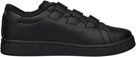 Tenis K-swiss Classic Clean Court Strap Vintage Negros Baby