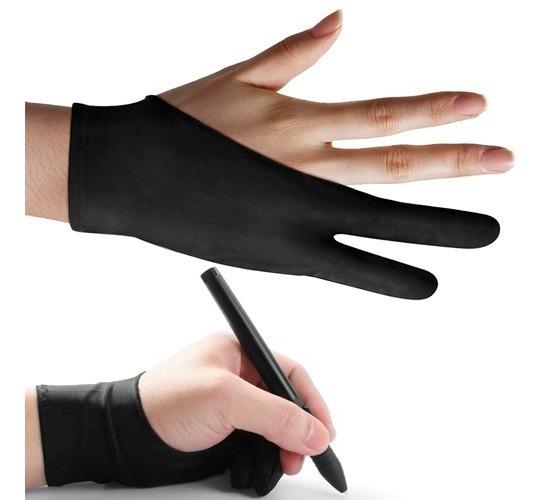 Guante 2 Dedos Tableta De Dibujo Digital O Protección Papel