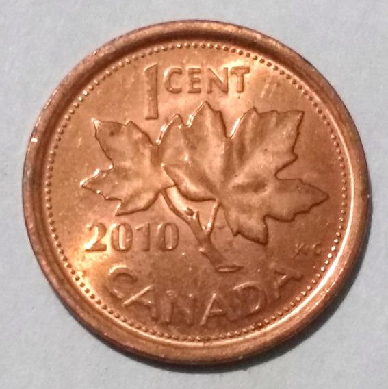 Moneda De Canadá, 1 Cent 2010.