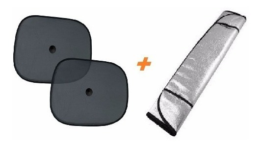 2 Protetor Solar Lateral + 1 Para-brisas Carro Quebra-sol .