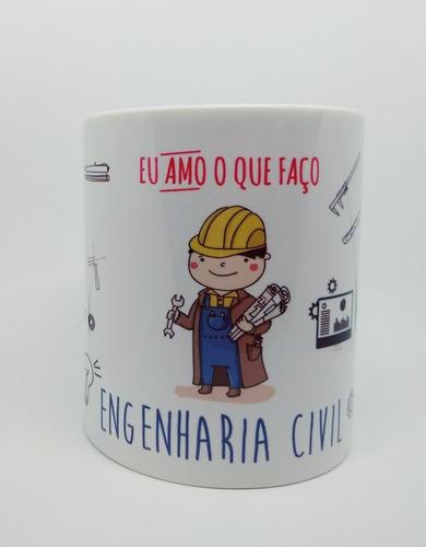 Caneca Personalizada Profissão Engenharia Civil - Engenheiro