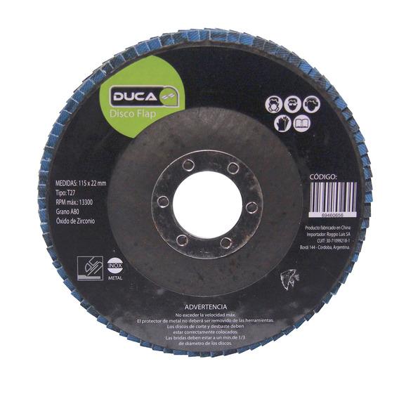 Disco Flaps 115 X 22,2 Ziriconia Grano 80 Caja 25 Unidades