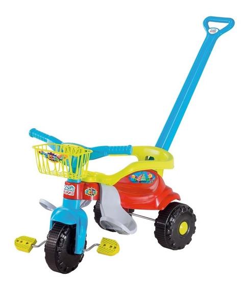 Triciclo Motoca Infantil Tico Tico Velotrol Pedal Cesta Azul
