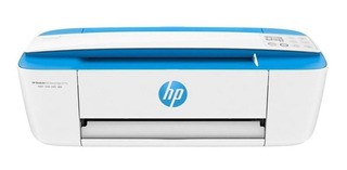 Impresora a color multifunción HP DeskJet Ink Advantage 3775 con wifi 220V blanca y celeste