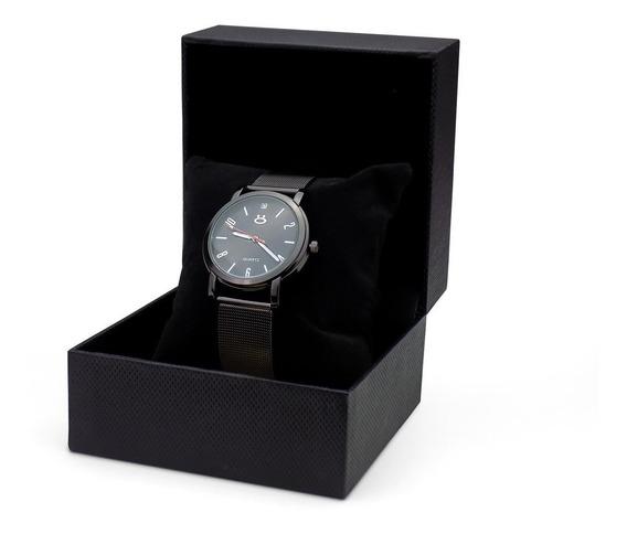Relógio Feminino Orizom Preto Original Pulseira Ajustável