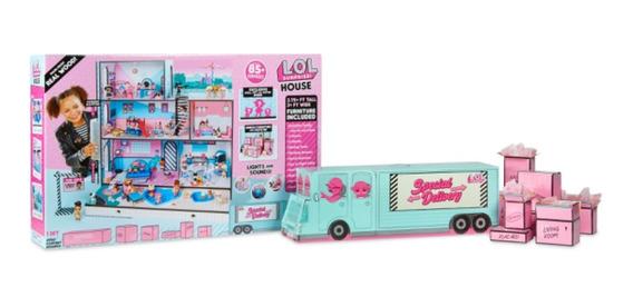 Lol Sorpresa Casa Mansion Autobús 85 Sorpresas 100% Original