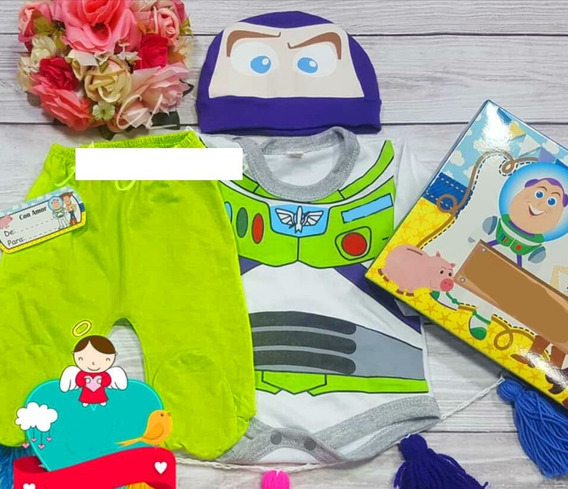Conjunto Disfraz Toy Story Woody Buzz 3p Body Pantalon Gorro