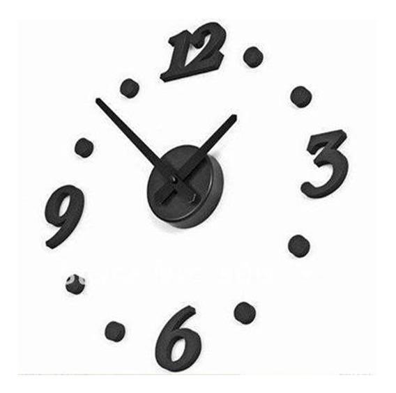 Reloj De Pared Estilo Minimalista Negro Hazlo Tu Mismo