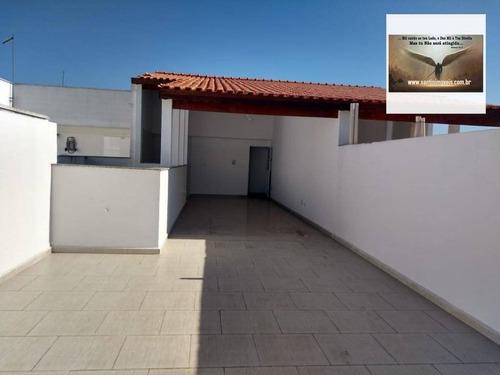 Cobertura Sem Condomínio Com 3 Dormitórios À Venda, 142 M² Por R$ 425.000 - Vila Humaitá - Santo André/sp - Co0297